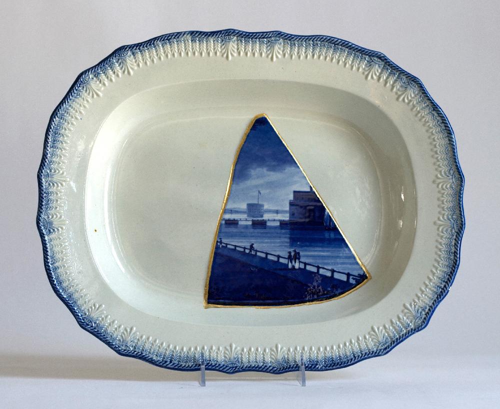 Scott's Cumbrian Blue(s) American Scenery Castle Park Battery New York, after Enoch Wood