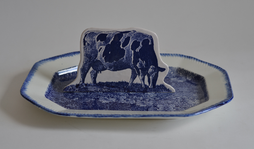 Scott's Cumbrian Blue(s) Cow in a Meadow