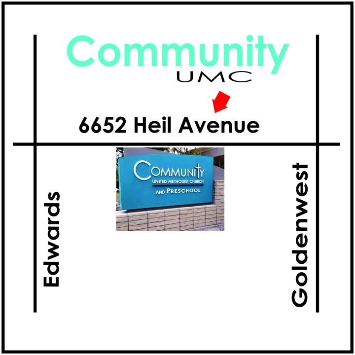 How to Find Us Community UMC Map