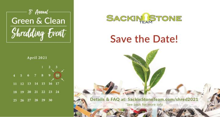 Green and Clean Shredding Event, Save the Date