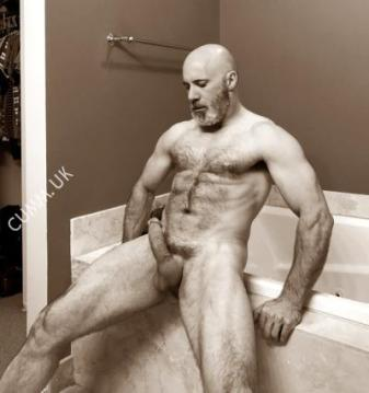 hung silver daddy muscle daddy erect