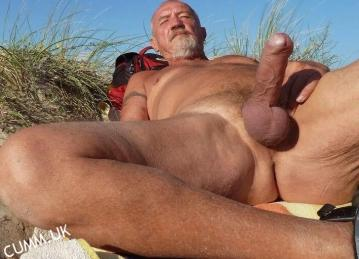big beach cock daddy silver hung in hastings