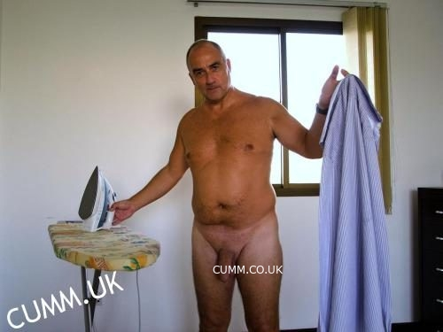 daddy ironing nude