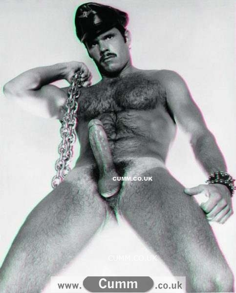 colt vintage leather man big erection