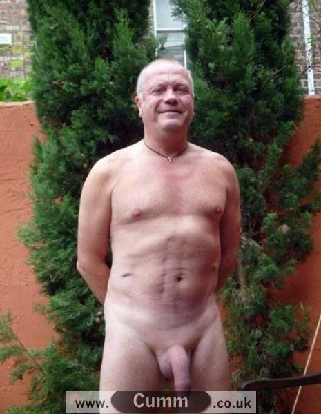 grandad showing off his big soft cock
