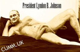 President Lyndon B. Johnson huge penis