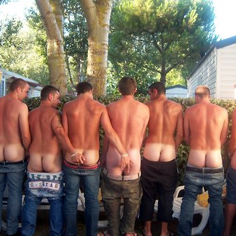 8 nude male asses