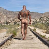 sexy arse inked man