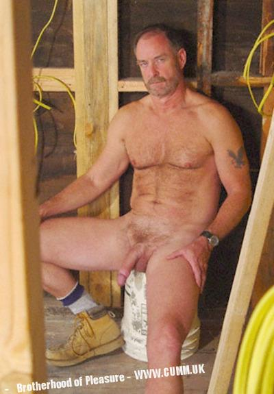 builders cock caught naked