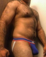 daddy jockstrap hairy bulge