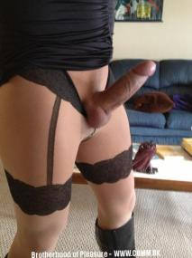 erect in pantyhose