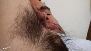 hairy male armpit licking