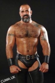 leather daddy hairy italian