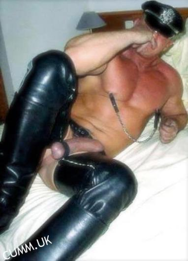leather daddy muscle erect