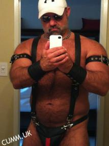 leather daddy in jock