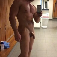 beautiful handsome simply hot body and package locker-room dick-7