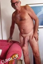 mature grandpa shaved flaccid hung dick