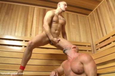 mitch-vaugh eli-hunter sauna wanking