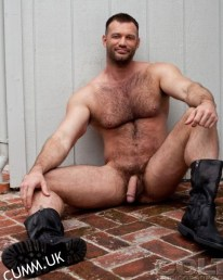 naked man in boots sexy eyes