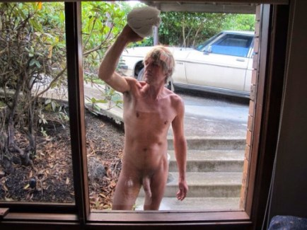 naked window cleaner manchester