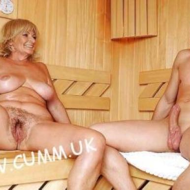 sauna milf young hung 4 mature cunt