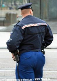 sexy cop big manly arse