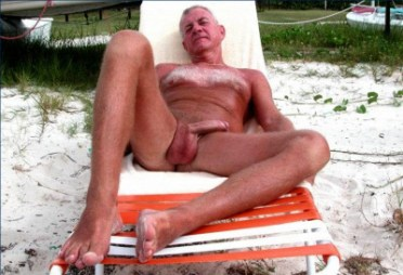 THAT CUM FILLED NUT SACK silver dad beach semi