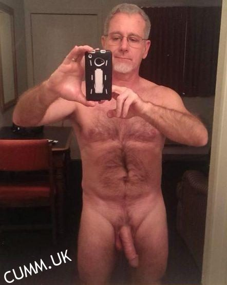 silver daddy cock-selfie-hung-daddy