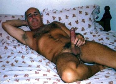 sleep cock big thick silver daddy