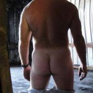 straight guy shows arse