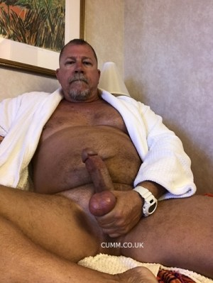 touch mature penis