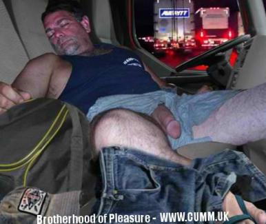 trucker sleeping naked