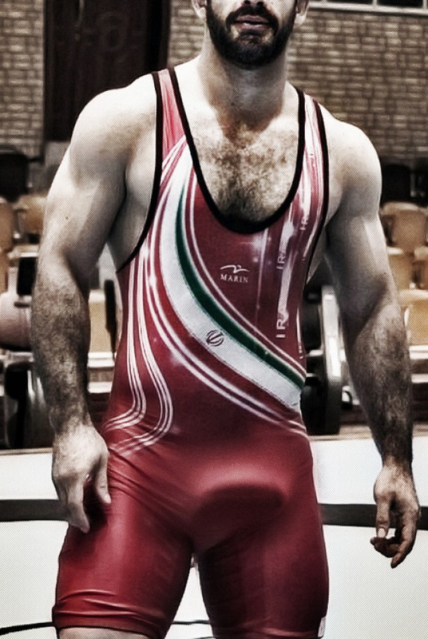 wrestler erection exposed thick