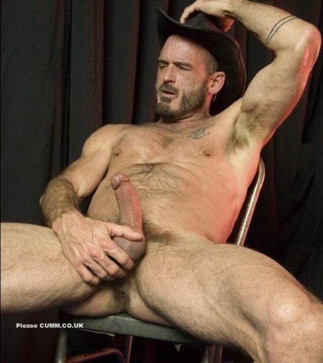 mature cowboy arse lubed and erection