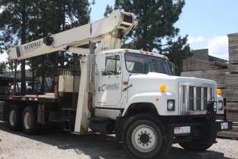 Cumming Construction crane truck
