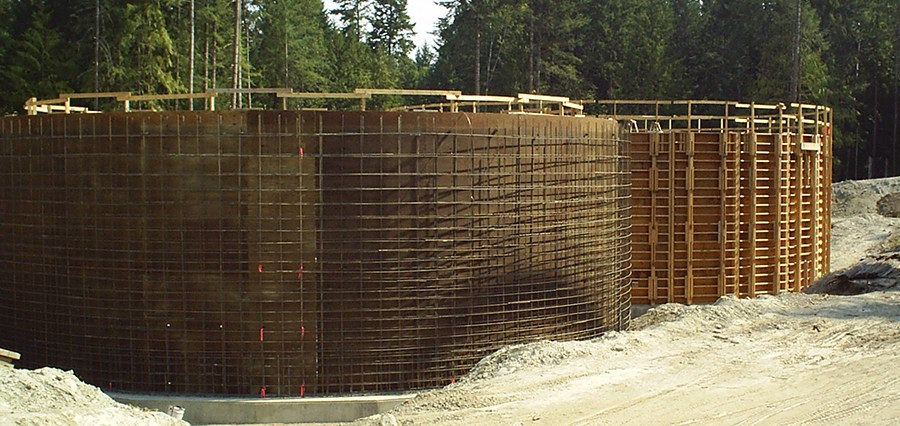 Cumming Construction Ltd. concrete reservoir forming and rebar