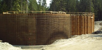Cumming Construction Ltd. concrete reservoir forming and rebar