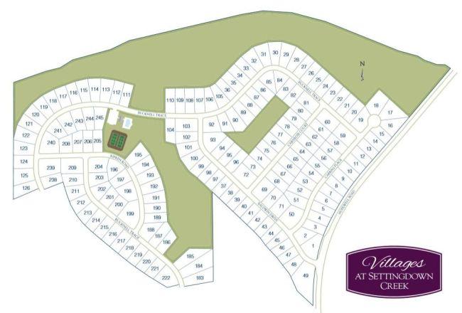 Cumming GA Neighborhood Settingdown Creek Site Plan