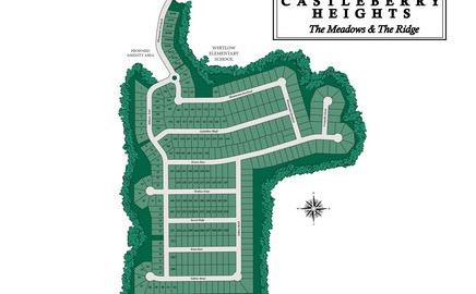 Cumming GA Neighborhood Site Plan Castleberry Heights