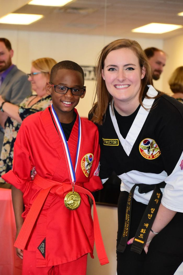 Instructor Kelsey Gafford at Choe's HapKiDo Cumming