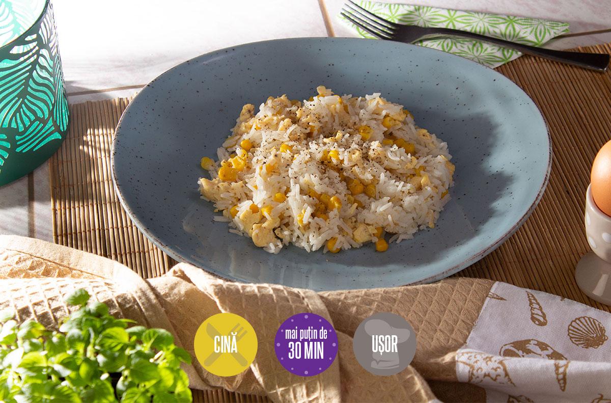 orez cu porumb și ou