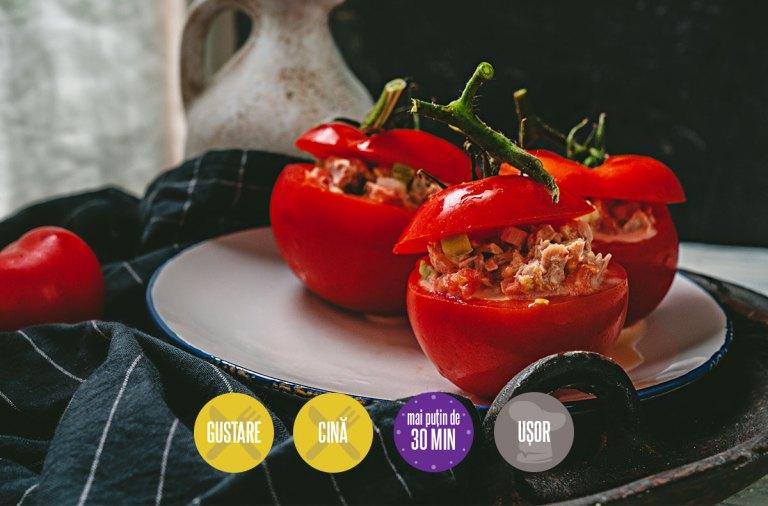 roșii umplute cu salată cu ton