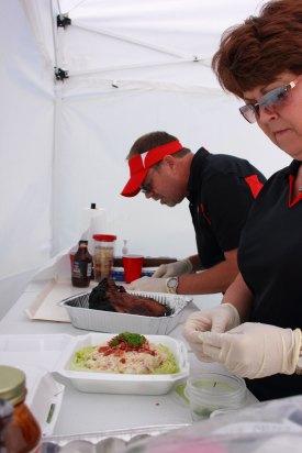 Rob and Alonna hard at work.