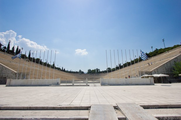 ancient olympic stadium in athens greece