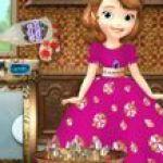Công chúa Sofia rửa chén đĩa