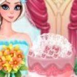 Trang trí bánh cưới Elsa