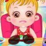 Baby Hazel bị đau mắt