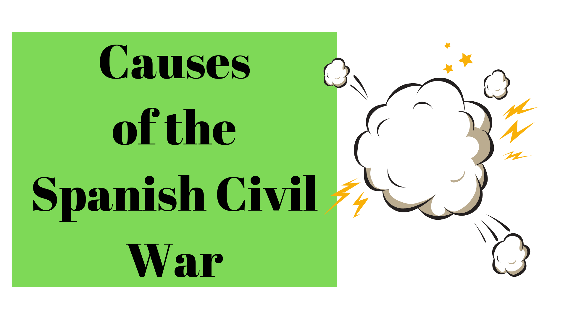 The Causes Of The Spanish Civil War Worksheet