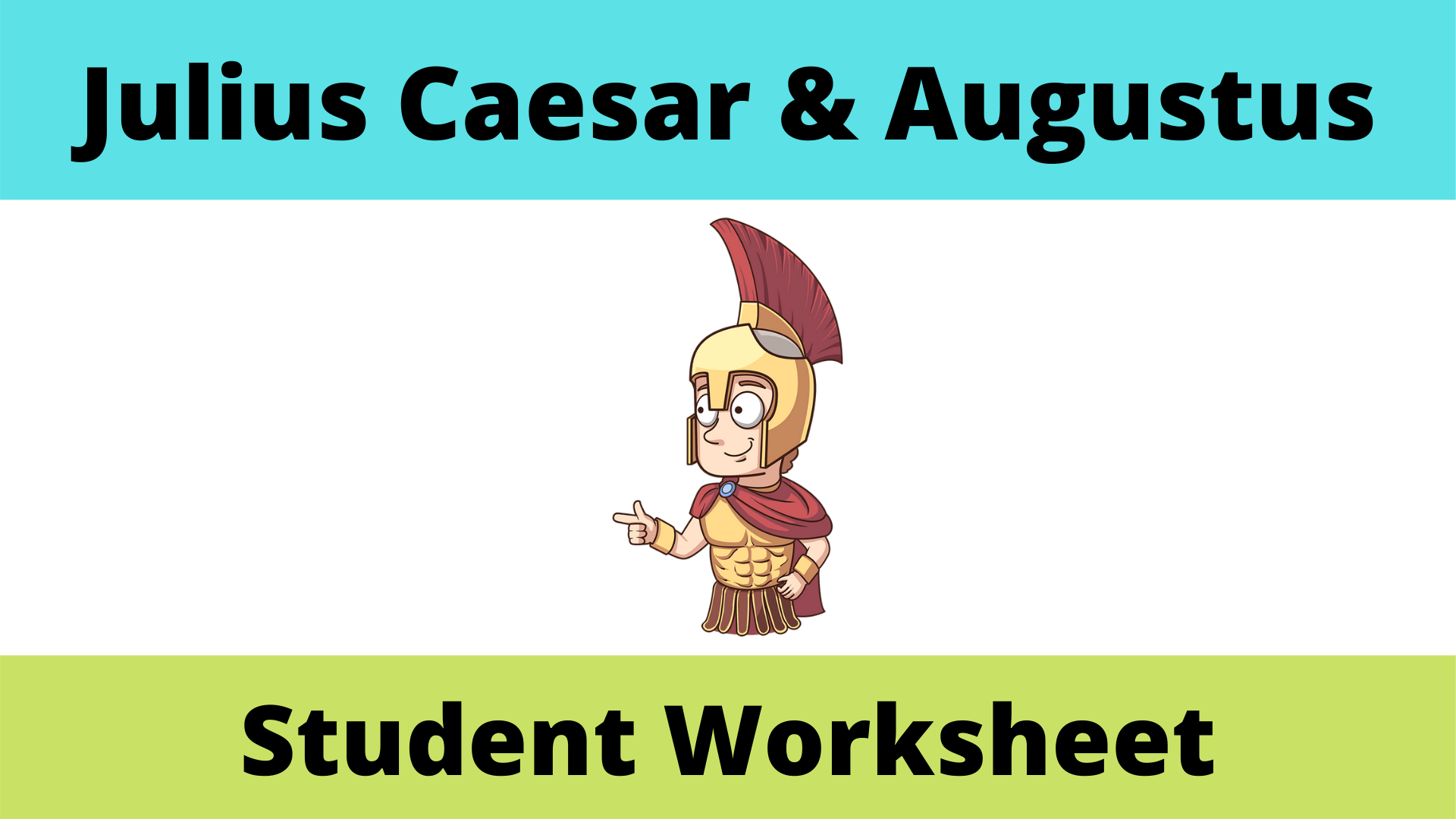 Julius Caesar And Augustus Student Worksheet
