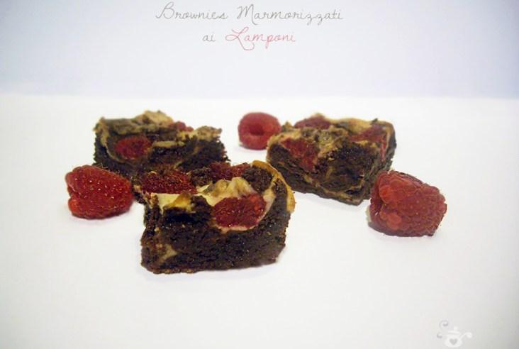 Brownies Marmorizzati ai Lamponi